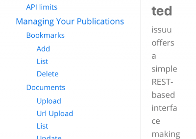 Let's take a look at the documentation on that reader-friendly API.